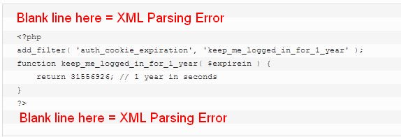 xml parse error reason